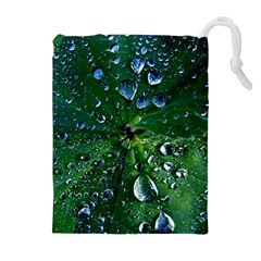 Morning Dew Drawstring Pouches (extra Large) by Costasonlineshop
