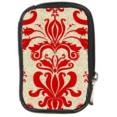 Ruby Red Swirls Compact Camera Cases by SalonOfArtDesigns