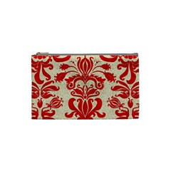 Ruby Red Swirls Cosmetic Bag (small)