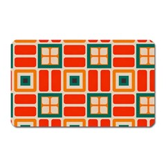 Squares And Rectangles In Retro Colors magnet (rectangular) by LalyLauraFLM