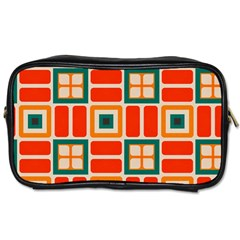 Squares And Rectangles In Retro Colors toiletries Bag (one Side) by LalyLauraFLM