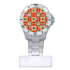 Squares And Rectangles In Retro Colors nurses Watch by LalyLauraFLM