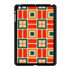 Squares And Rectangles In Retro Colors 			apple Ipad Mini Case (black) by LalyLauraFLM