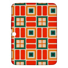Squares And Rectangles In Retro Colors 			samsung Galaxy Tab 3 (10 1 ) P5200 Hardshell Case by LalyLauraFLM