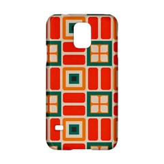 Squares And Rectangles In Retro Colors 			samsung Galaxy S5 Hardshell Case by LalyLauraFLM