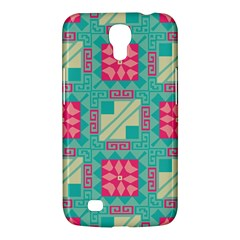 Pink Flowers In Squares Pattern 			samsung Galaxy Mega 6 3  I9200 Hardshell Case by LalyLauraFLM