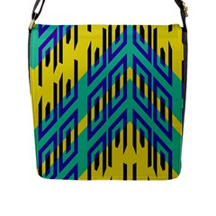 Tribal Angles 			flap Closure Messenger Bag (l) by LalyLauraFLM