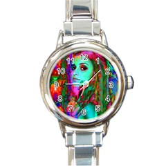 Alice In Wonderland Round Italian Charm Watches by icarusismartdesigns