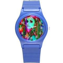 Alice In Wonderland Round Plastic Sport Watch (s) by icarusismartdesigns