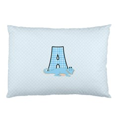 A Is For Alligator Blue Pillow Cases by SalonOfArtDesigns