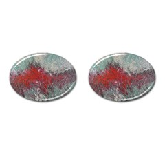 Metallic Abstract 2 Cufflinks (oval) by timelessartoncanvas