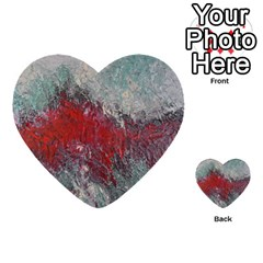 Metallic Abstract 2 Multi Purpose Cards (heart)  by timelessartoncanvas