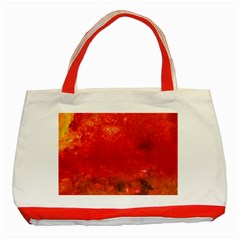 Stone Wall Classic Tote Bag (red)  by timelessartoncanvas