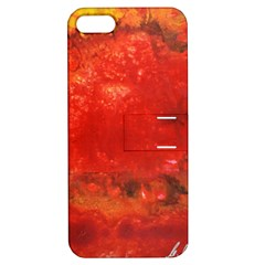 Stone Wall Apple Iphone 5 Hardshell Case With Stand by timelessartoncanvas