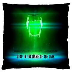 Stop In The Name Of The Law Large Cushion Cases (two Sides)  by RespawnLARPer