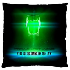 Stop In The Name Of The Law Standard Flano Cushion Cases (two Sides)  by RespawnLARPer
