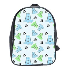A Is For Alligator Blue School Bags (xl)  by SalonOfArtDesigns