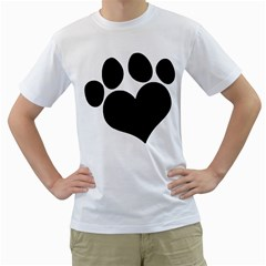 Puppy Love Men s T Shirt (white) (two Sided) by ButThePitBull