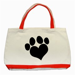 Puppy Love Classic Tote Bag (red) by ButThePitBull