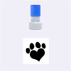 Puppy Love Rubber Stamp Round (small) by ButThePitBull