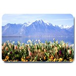 Mountain Flowers  Matching  Doormat Template s Product - Large Doormat