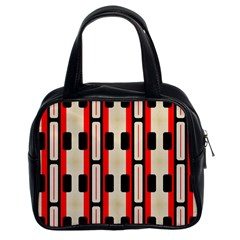 Rectangles And Stripes Pattern Classic Handbag (two Sides) by LalyLauraFLM