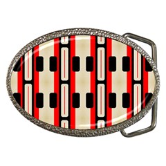 Rectangles And Stripes Pattern belt Buckle by LalyLauraFLM