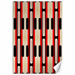 Rectangles And Stripes Pattern 			canvas 12  X 18  by LalyLauraFLM
