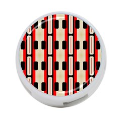 Rectangles And Stripes Pattern 			4 Port Usb Hub (one Side) by LalyLauraFLM