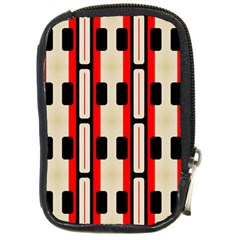 Rectangles And Stripes Pattern 			compact Camera Leather Case by LalyLauraFLM