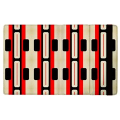 Rectangles And Stripes Pattern 			apple Ipad 3/4 Flip Case by LalyLauraFLM