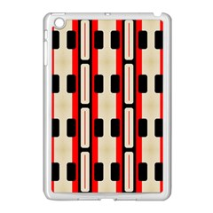 Rectangles And Stripes Pattern 			apple Ipad Mini Case (white) by LalyLauraFLM