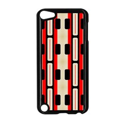 Rectangles And Stripes Pattern apple Ipod Touch 5 Case (black) by LalyLauraFLM