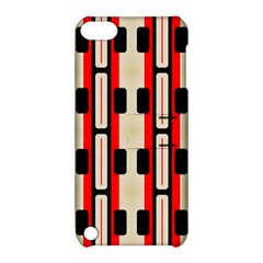 Rectangles and stripes pattern Apple iPod Touch 5 Hardshell Case with Stand by LalyLauraFLM