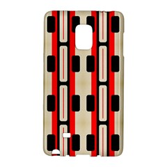 Rectangles And Stripes Pattern samsung Galaxy Note Edge Hardshell Case by LalyLauraFLM