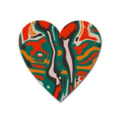 Retro Colors Chaos 			magnet (heart) by LalyLauraFLM