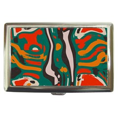 Retro colors chaos 			Cigarette Money Case by LalyLauraFLM