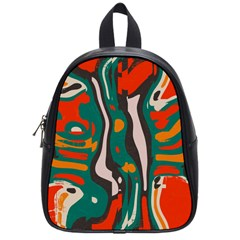 Retro Colors Chaos 			school Bag (small) by LalyLauraFLM