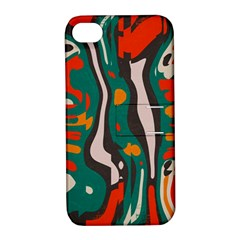 Retro Colors Chaos 			apple Iphone 4/4s Hardshell Case With Stand by LalyLauraFLM