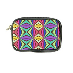 Connected Shapes In Retro Colors  coin Purse by LalyLauraFLM