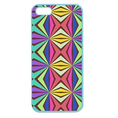 Connected Shapes In Retro Colors  			apple Seamless Iphone 5 Case (color) by LalyLauraFLM
