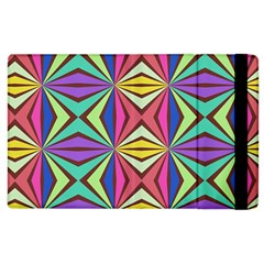 Connected Shapes In Retro Colors  			apple Ipad 3/4 Flip Case by LalyLauraFLM