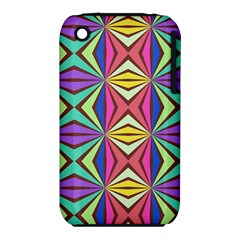 Connected Shapes In Retro Colors  			apple Iphone 3g/3gs Hardshell Case (pc+silicone) by LalyLauraFLM