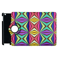 Connected Shapes In Retro Colors  			apple Ipad 3/4 Flip 360 Case by LalyLauraFLM