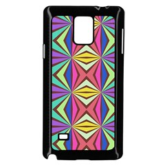 Connected shapes in retro colors  			Samsung Galaxy Note 4 Case (Black) by LalyLauraFLM