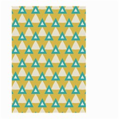 White Blue Triangles Pattern Small Garden Flag by LalyLauraFLM