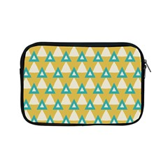 White Blue Triangles Pattern 			apple Ipad Mini Zipper Case by LalyLauraFLM