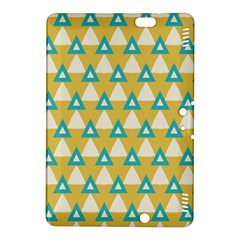 White Blue Triangles Pattern kindle Fire Hdx 8 9  Hardshell Case by LalyLauraFLM