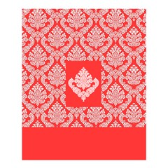 Salmon Damask Shower Curtain 60  X 72  (medium)  by SalonOfArtDesigns