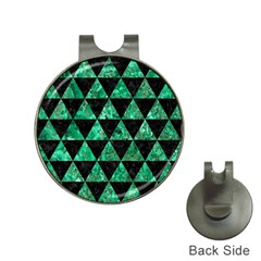 Triangle3 Black Marble & Green Marble Golf Ball Marker Hat Clip by trendistuff
